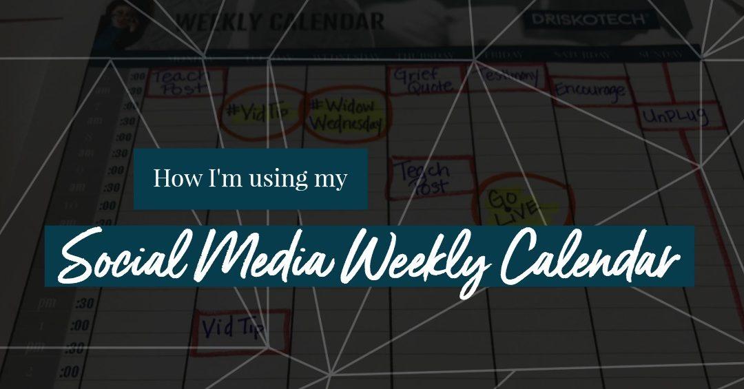 My Rebranded Social Media Calendar